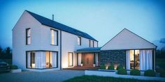 Bungalow Haus Design, Modern Bungalow House, Rural House, Modern House Plans, House Outside Design, House Front Design, Style At Home, House Designs Ireland, Design Commercial