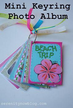 Mini Keyring Photo Album - An especially cute idea for new grandparents.