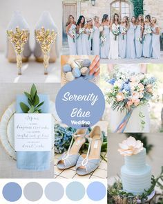 blue wedding Pantone colours of the year - Our favourite ideas for ways to use Serenity Blue in your wedding colour scheme! Add it to your cake, shoes, flowers and more! Get more inspiration on the Wedding Ideas website! Trendy Wedding, Perfect Wedding, Dream Wedding, Wedding Day, Wedding Blue, Elegant Wedding, Periwinkle Wedding, Wedding Venues, Rustic Wedding