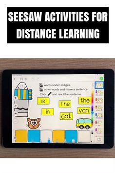 Need fun activities to use in Seesaw? Looking for engaging practice for distance learning? Try reading paperless phonics sentences with crayons. Perfect for kindergarten, first and second grade! Learning Phonics, Phonics Activities, Learning Resources, Teaching, Reading Games For Kindergarten, French Language Learning, Spanish Language, Learning Spanish, Word Family Activities