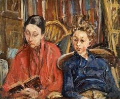 Mrs. Vera Dobrinsky and son  by Isaac Dobrinsky born 1891 in Ukraine died 1973 in Paris, France