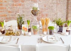 "easy party decor for something a little grown up or in the ""chic"" theme"