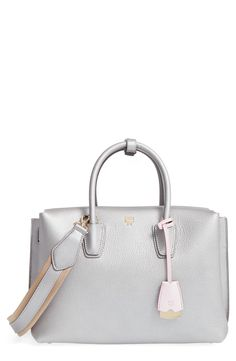 4e4e46a82c42 MCM Medium Milla Leather Tote available at  Nordstrom Pebbled Leather