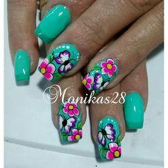 Nails Design, Cute Nails, Beauty, Work Nails, Indian Nails, Nail Techniques, Nail Designs, Manualidades, Pretty Nails