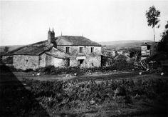 Reigosa, A Pastoriza. Casa con forno e un hórreo. Arquivo Ebeling nº 414.