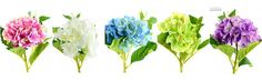 Hydrangea 5 Branches Artificial Flowers