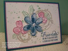 Stampin' Up! Swirly Scribbles & Garden in Bloom, by Krista Thomas, www.regalstamping.com