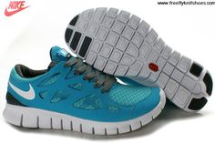 Today's Deals Mens Nike Free Run 2 Gray Jade Shoes For Sale