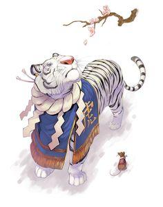 Tiger Year, an art print by Elisa Kwon - INPRNT