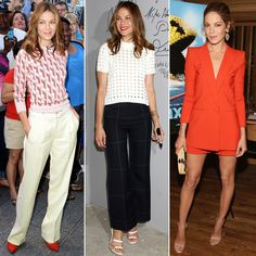 Pixels star Michelle Monaghan wore three impeccable looks in one day.