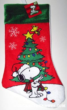 Charlie Brown Christmas, Snoopy Christmas Stocking - Personalized ...