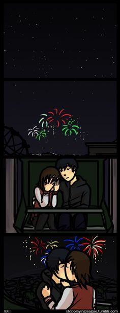 Happy New Years, babe. I love you so much. Even more than my fear of Ferris wheels and Fire works.