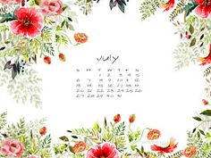 Craftberry Bush: July free desktop calendar - better late than never...