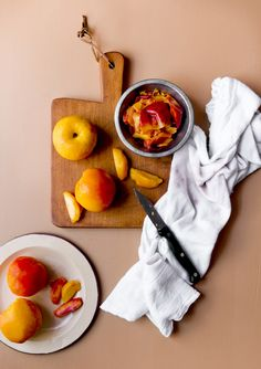Peaches & no-churn ice cream Rikki Snyder Photography | Blog | A match made in Heaven.