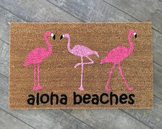 Flamingo Doormat / Pineapple Doormat / Funny Doormat / Custom Doormat / Front Door Mat / Cute Doormat / Aloha Beaches Mat / Summer Doormat