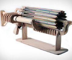 Rubber Band Machine Gun http://www.thisiswhyimbroke.com/rubber-band-machine-gun-2