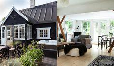 Kom ind i Sara Blædels liebhaver-sommerhus i Nordsjælland Bungalow Homes, Cottage Style Homes, Cozy House, Black House, House Colors, Decor Styles, Building A House, Outdoor Living, Bali