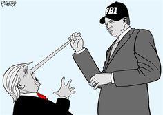 Rainer Hachfeld - Neues Deutschland, Germany - Trump, Comey - English - Donald Trump, James B Comey jr