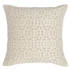 Kosas Home Millie Ivory Cotton 22-inch Feather and Down Filled Throw Pillow