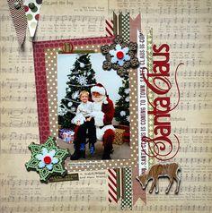 #papercraft #scrapbook #layout with Santa Claus