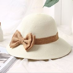 >> Click to Buy << 2017 new Sun Hat Women's bow Straw summer Hats For Women Beach hat chapeau femme boater hats for womens wholesale free shipping #Affiliate