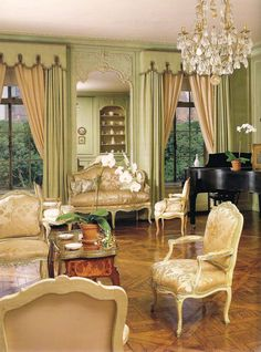 Manhattan apartment decorated from 1959-1960 by the legendary Parisian firm Maison Jansen, beginning under the guidance of Stephane Boudin.