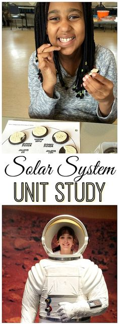 Solar System Unit Study ideas including Oreo moon phases and hands-on learning and printables