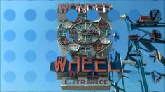 Neon Wonder Wheel Sign at Coney Island