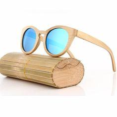 New Fashion Retro Polarized Handmade Bamboo Wood Sunglasses