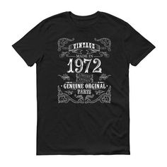 1972 Birthday Gift, Vintage Born in 1972 t-shirt for men, 46th Birthday shirt for him, Made in 1972 T-shirt, 46 Year Old Birthday Shirt #1972Birthday #BirthdayShirt #him #BornIn1972 #1972 #Vintage1972 #46YearsOld #1972TShirt #men #MadeIn1972
