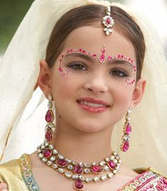 Purim/Esther: Pick up some bindis at your local Indian clothing store (ones like these are not too expensive). Young girls love to place them around their eyes and eyebrows to embellish their costumes.  For more ideas, followEveryday Simchas Pinterest Board, Purim: The Ultimate Queen Esther Party.