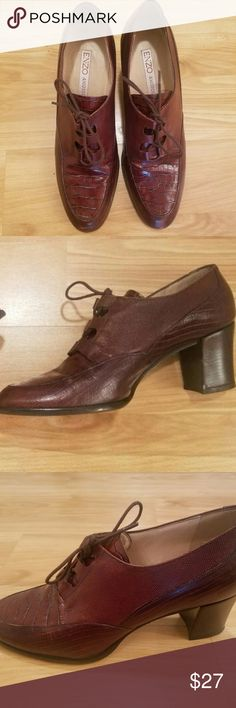 ENZO ANGIOLINI Women 8 1/2M Brown snakeskin oxford Excellent used condition. Please see pictures for flaws. Smoke free environment, no pets Enzo Angiolini Shoes Ankle Boots & Booties