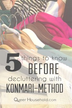 5 Things to Know Before Decluttering with Konmari Method