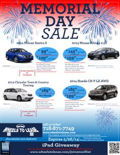 honda memorial day lease specials