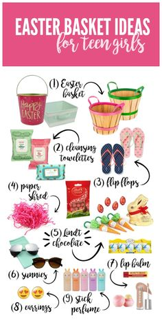 56 non candy easter basket ideas for kids teen gifts basket ideas preppy easter basket ideas for teen girls negle Images
