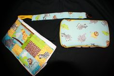Priced to Sell  Baby Wipe Case Burp Cloth Set by Gammysshop