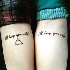 For the one who looks after you: | 56 Matching Tattoos That Will Give You Squad Goals