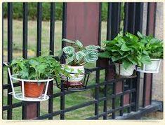 Large wall mountable cast iron triple garden plant pot holder in imagen relacionada workwithnaturefo