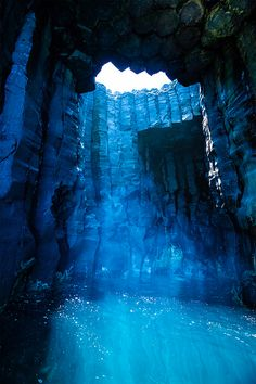 The Blue Cave on Xiji Islet, new Taiwan national park in Penghu, 50 min plane ride + hr boat ride from taipei Oh The Places You'll Go, Places To Travel, Travel Destinations, Places To Visit, Beautiful World, Beautiful Places, Beautiful Scenery, Stunning View, Amazing Places