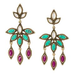 Jaipur Statement Earrings - Shop now in my boutique www.chloeandisabel.com/boutique/lizstorey #chloeandisabel #jewelry
