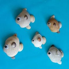 Sea Shell Fish- cute idea to turn shells from our beach trip each year into a magnet.