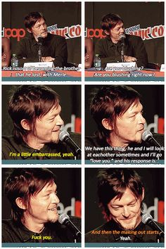 """Norman Reedus on Daryl, """"I think this is his new family, I think he'd do anything to keep them alive."""" ..The Walking Dead"""