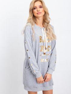 Športové šaty Back to rock sivé Graphic Sweatshirt, Pullover, Rock, Sweatshirts, Sweaters, Fashion, Moda, Fashion Styles, Skirt