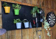 #แผ่นกระดานเพ็กบอร์ดติดผนังกำแพงแขวนเก็บอุปกรณ์เครื่องมือช่าง #อุปกรณ์จัดเก็บเครื่องมือ Diy Tools, Planter Pots, Shelves, Shelving, Shelving Units, Planks, Shelf