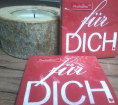 2 Pack mit SET mit jeweils 20 Papier Servietten FÜR Dich  Tischdeko 25 x 25 cm