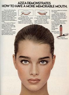 Vintage ad - Brooke Shields for Aziza, 1979.