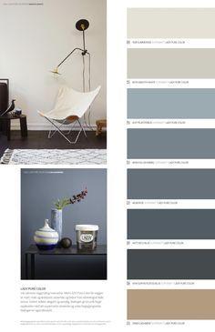 Living Room Paint Ideas 2015 Lovely Jotun Lady Det Nye Vakre Fargekartet 2015 In 2020 Living Room Color Schemes, Living Room Colors, Living Room Paint, Bedroom Paint Colors, Paint Colors For Home, Decor Room, Bedroom Decor, Jotun Lady, Blue Wall Colors