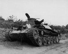 "Imperial Japanese Army Medium Tank Type 97 ""Chi-ha""  Type 97 Chi-Ha tank at Hill 382 Iwo Jima, Japanese 26th Tank Regiment, 1945.   九七式中戦車 チハ"