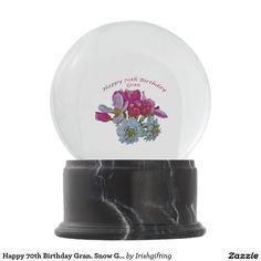 Happy 70th Birthday Gran. Snow Globes