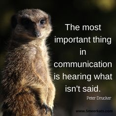 The most important thing in communication is hearing what isn't said. Smart Quotes, Communication, Poems, Sayings, Cakes, Lyrics, Poetry, Food Cakes, Verses